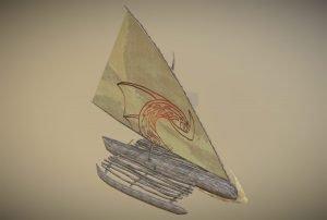 Tropical Sailboat Game Asset